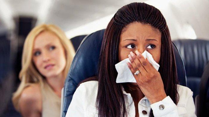 Ilustrasi sakit sinusitis saat traveling