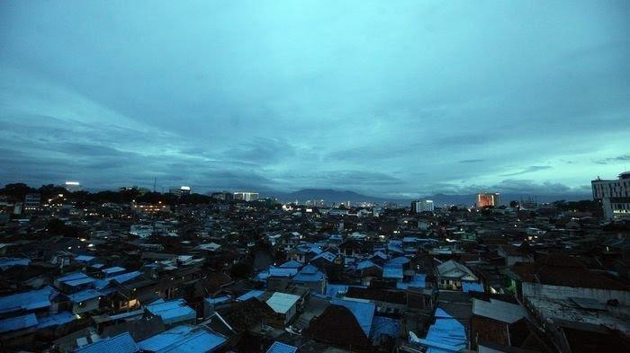 Ilustrasi suhu dingin di Kota Bandung.