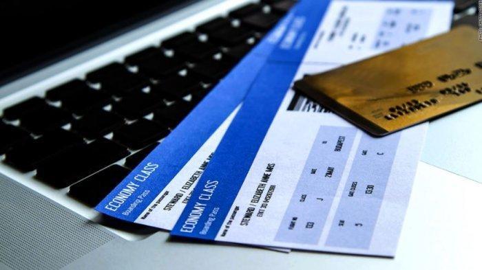 Ilustrasi tiket pesawat murah k