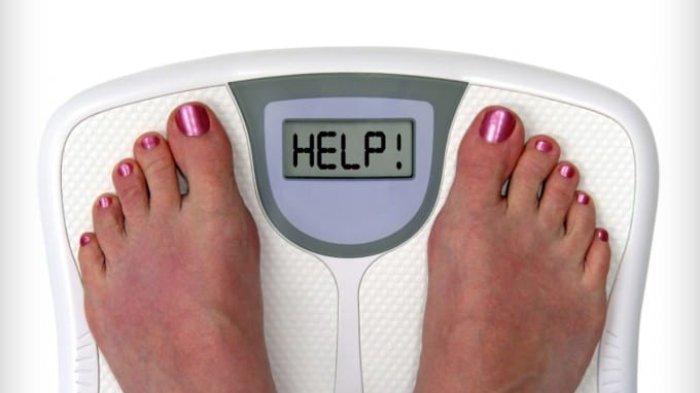 Ilustrasi timbangan berat badan