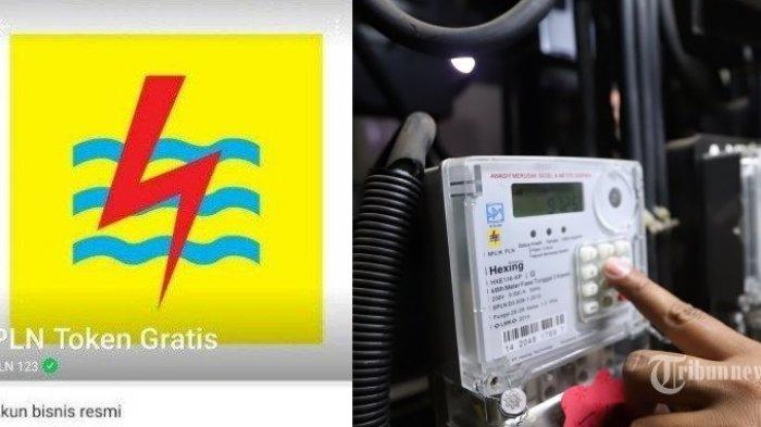 Ilustrasi token listrik gratis PLN.