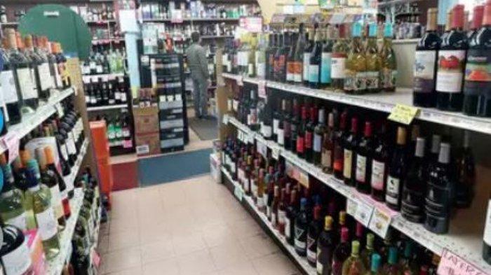 Ilustrasi toko minuman keras.