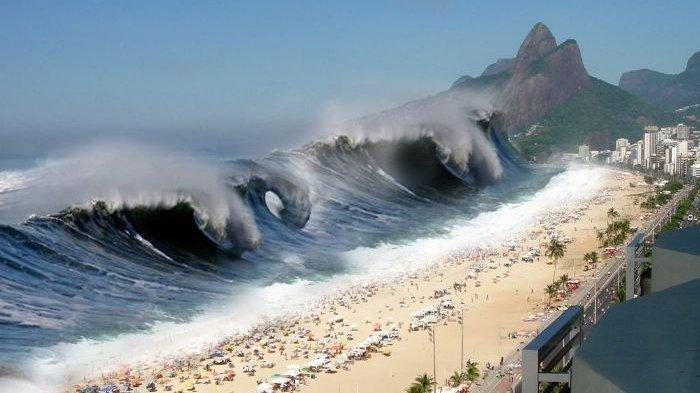 Ilustrasi tsunami. Lima tsunami terdahsyat yang pernah ada sepanjang masa.