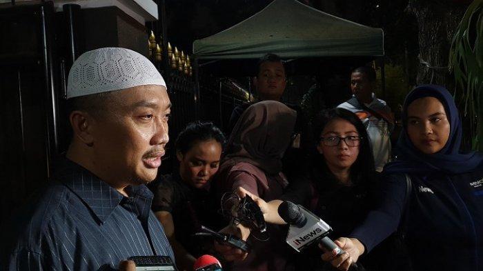 Menteri Pemuda dan Olahraga Imam Nahrawi di kediaman Jalan Widya Candra III Nomor 12, Kebayoran Baru, Jakarta Selatan, Rabu (18/9/2019).