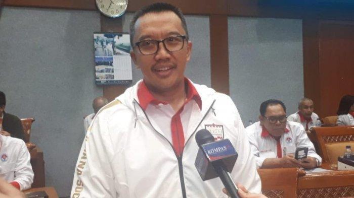 Menpora Imam Nahrawi saat ditemui sebelum melakukan rapat dengan Komisi X di Gedung Nusantara, DPR RI, Jakarta, Senin (16/9/2019). Tribunnews/Abdul Majid