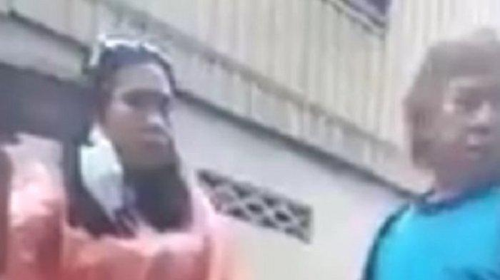 Ince Nikmahtullah, wanita pelempar Alquran dalam video yang viral.