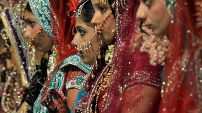 Ilustrasi calon mempelai wanita India.