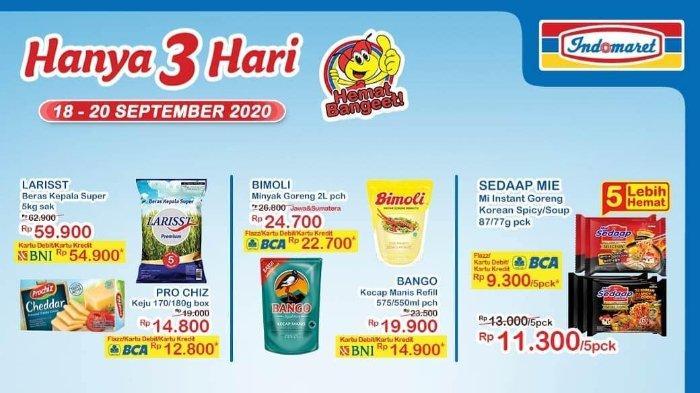 Promo JSM Indomaret Hanya 3 Hari 18-20 September 2020, Makin Murah dengan Kartu Debit/Kredit