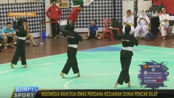 Indonesia berhasil meraih dua medali emas perdana dari kejuaraan dunia Pencaksilat 2016.