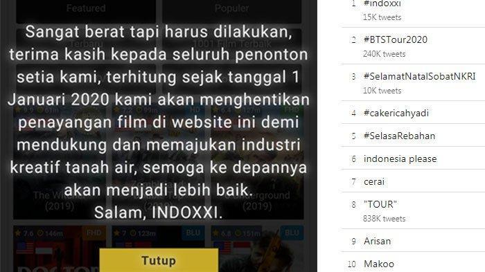 Kominfo blokir IndoXXI per tahun 2020