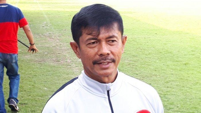 Pelatih Kepala Timnas Indonesia, Indra Sjafri saat ditemui di Lapangan C, Senayan, Jakarta, Kamis (14/2/2019). Tribunnews/Abdul Majid