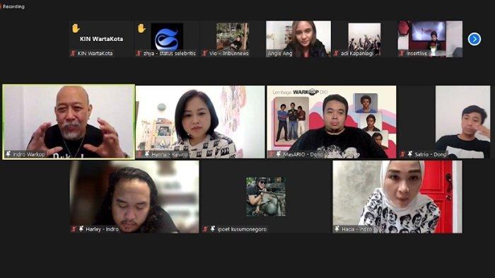 Tangkapan Layar Wawancara Virtual Bersama Indro Warkop dan Lembaga Warkop DKI, Senin (20/9/2021).