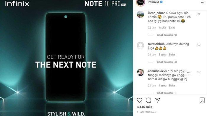 Antisipasi Permintaan Membeludak, Penjualan Perdana Infinix Note10 Pro NFC Ditunda