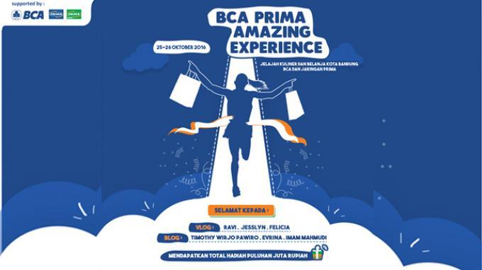 Inilah Para Bloggers Pemenang Lomba BCA - Prima Amazing Experience