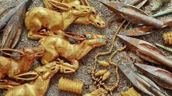 Arkeolog Temukan Setumpuk Perhiasan dan Benda Berharga Berusia 2.800 Tahun di Kazakhstan