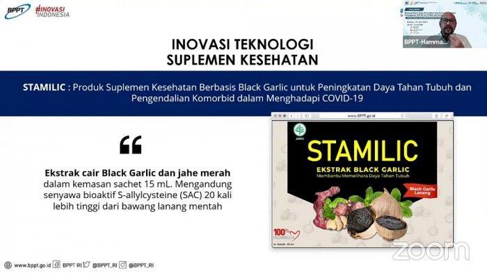 'Stamilic' Inovasi Suplemen Kesehatan BPPT, Diklaim Tingkatkan Daya Tahan Tubuh