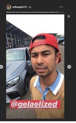 Insta Story Raffi Ahmad saat di Sentul