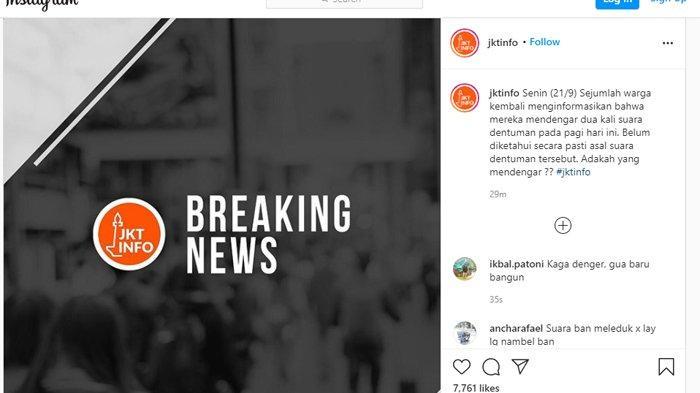 BREAKING NEWS: Pagi Ini Warga Jakarta Kembali Dengar Suara Dentuman