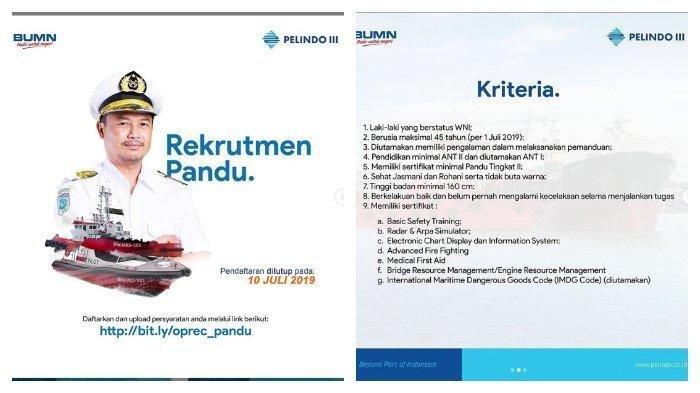 Lowongan Kerja Bumn Pt Pelindo Iii Persero Buka Hingga 10 Juli 2019 Ayo Buruan Daftar Tribunnews Com Mobile