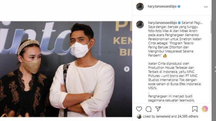 Instagram pribadi Hary Tanoesoedibjo