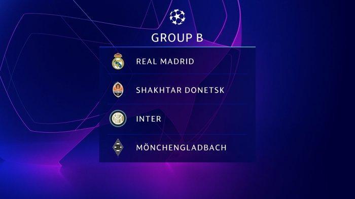 Inter Milan dengan Real Madrid satu grup di Liga Champions 2020/2021