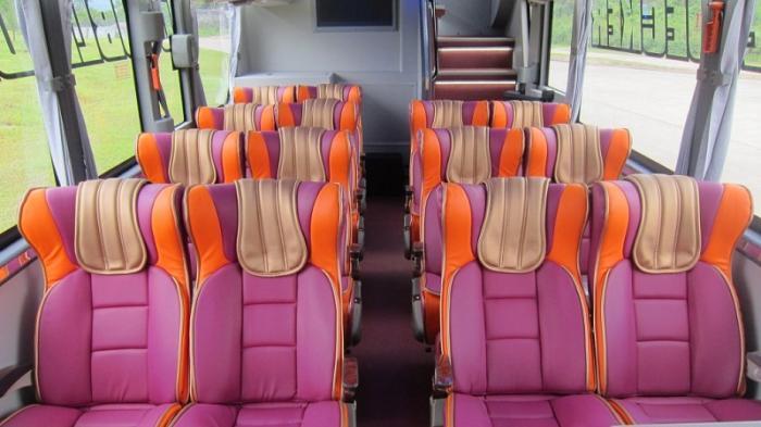 Bus Tiga Sumbu Milik Po Paradep Trans Ini Dilengkapi Fitur Mewah Di Kabinnya Tribunnews Com Mobile