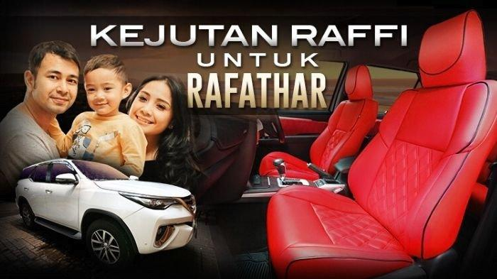 Interior Fortuner Baru, Kejutan Raffi Ahmad untuk Rafathar