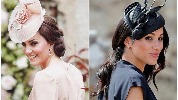 Intip Potret Perbandingan Gaya Busana Kate Middleton dan Meghan Markle Kenakan Blazer Warna Senada
