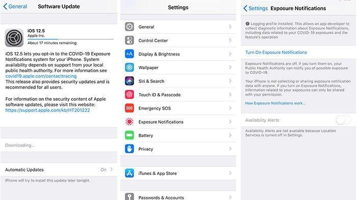 Update iOS 12.5 yang dilengkapi fitur Pelacak Covid-19 Exposure Notification di iPhone 6