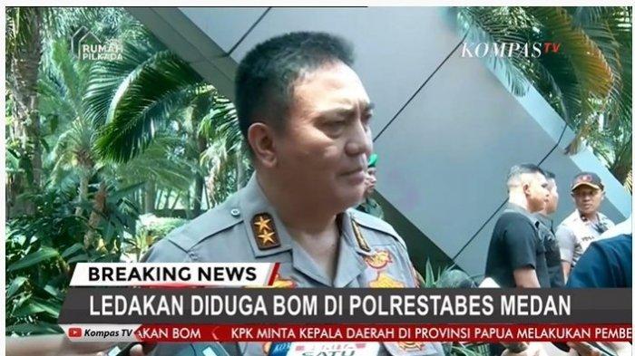 Kadiv Humas Mabes Polri, Irjen M Iqbal menjelaskan mengenai peristiwa ledakan yang diduga bom bunuh diri di Mapolrestabes Medan, Rabu (13/11/2019) pukul 08.45 WIB.