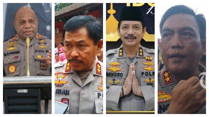 Profil 4 Kapolda yang Hari Ini Dilantik: Nana Sudjana, Panca Putra, Hendro Sugiatno, Mathius Fakhiri
