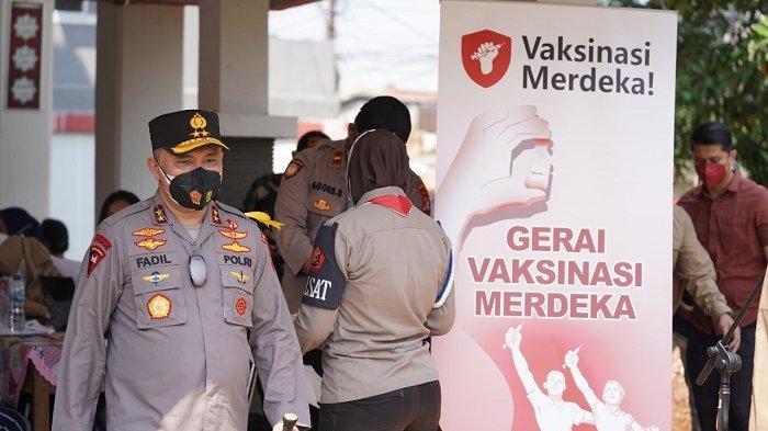 Sambut HUT Ke-76 RI, Polda Metro Jaya Gelar Uji Coba Program Vaksinasi Merdeka
