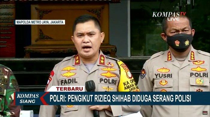 Kapolda Metro Jaya, Irjen Pol Mohammad Fadil Imran saat melaporkan atas kejadian penyerangan anggotanya