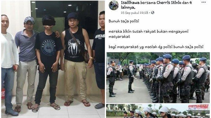 IL alias Isal (23), warga Kelurahan Sindulang Satu, Lingkungan II, Kecamatan Tuminting, Kota Manado, Sulu ditangkap Tim Macan Resmob Polresta Manado dan Tim Paniki Rimbas II Polresta Manado, saat berada di rumahnya, Sabtu (28/9/2019) malam.