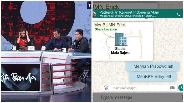 Chat Grup WA Imajiner Menteri Bocor, Prabowo Tinggalkan Grup karena Erick Thohir, Wishnutama Panik
