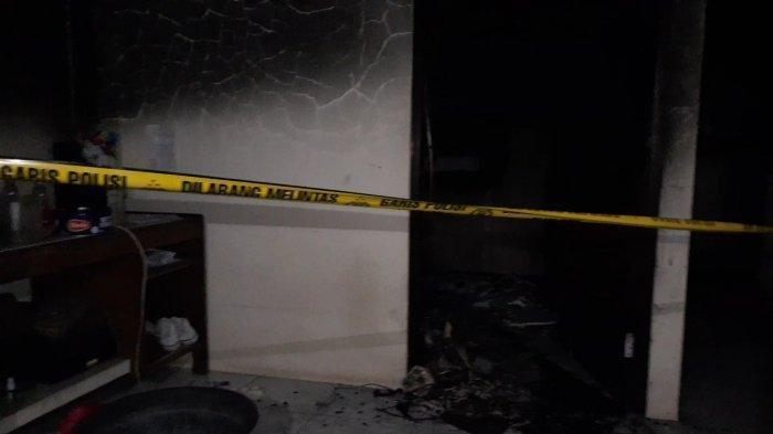Kondisi kamar istri bakar suami di Jalan Sukamulya 1, Serua Indah, Ciputat, Tangsel, Kamis (4/2/2021).