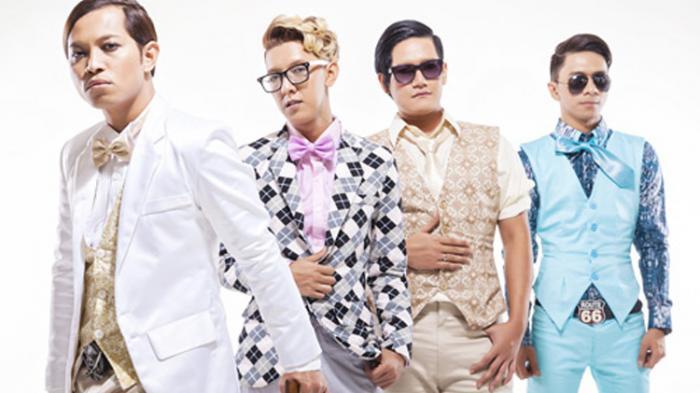 Para personel band J-rocks, dari kiri: Iman, Wima, Anton and Sony.