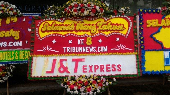 J & T Express Ucapkan Selamat HUT ke-8 Tribunnews.com