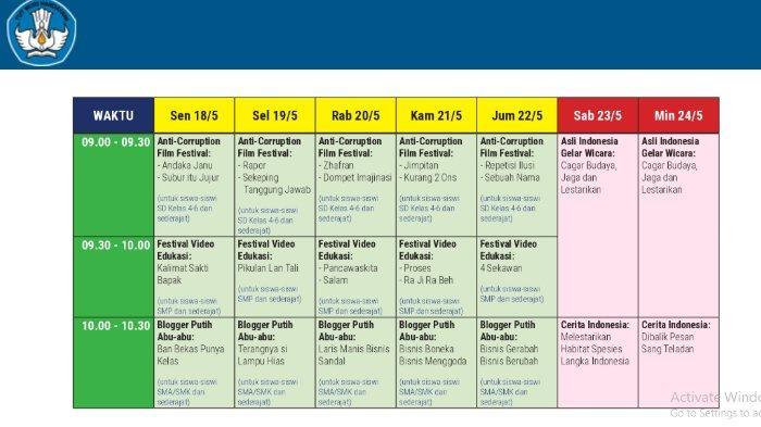 Jadwal TVRI SMP Kelas 7-9, Jumat 22 Mei 2020