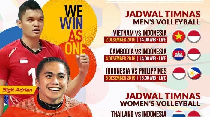 Jadwal Bola Voli Putra SEA Games 2019: Kamboja Lawan Indonesia, Live MNC TV Pukul 14.00 WIB