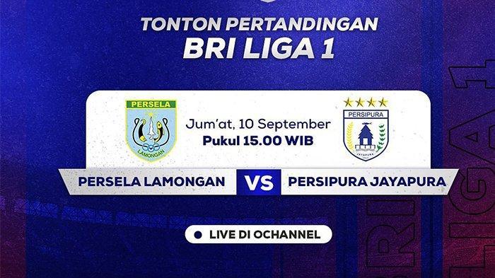 Jadwal pertandingan BRI Liga 1 2021 pekan kedua yang mempertemukan Persela Lamongan vs Persipura Jayapura live O Channel, Jumat (10/9/2021) pukul 15.15 WIB.