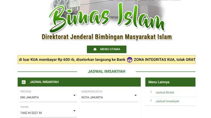 Jadwal imsakiyah puasa Ramadhan 2021 dari Kemenag sudah bisa di-download di laman bimasislam.kemenag.go.id