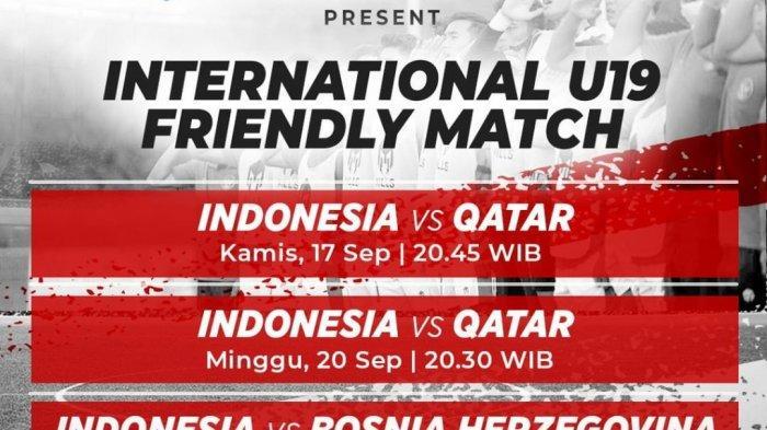 Jadwal Timnas Indonesia U-19 Akhir Pekan Ini: Kembali Hadapi Qatar, Live Mola TV & Net TV