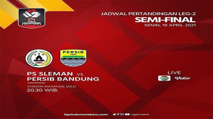 JADWAL SIARAN Langsung Semifinal Piala Menpora, PSS vs Persib Live Indosiar, Persija Sudah Menunggu