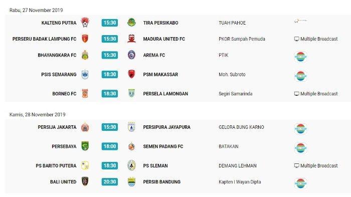 Jadwal Liga 1 pekan ke-29