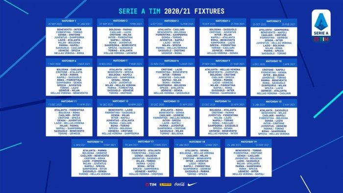 JADWAL Liga Italia 2020/2021 Lengkap: Benevento vs Inter ...