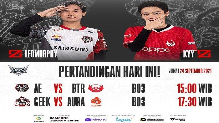 Jadwal Live Streaming MPL ID Season 8 Hari Ini: Alter Ego vs Bigetron Alpha, GEEK Fam vs AURA Fire