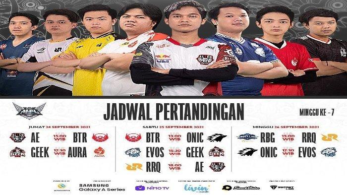 Jadwal MPL ID Season 8 Minggu Ketujuh