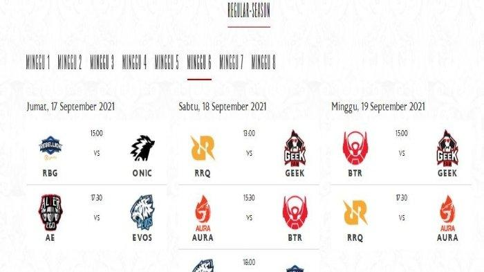 Jadwal MPL ID Season 8 Minggu Keenam: Alter Ego vs EVOS Legends hingga RRQ Hoshi vs AURA Fire