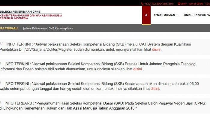 Kemenkumham Umumkan Jadwal SKB CAT dan SKB Praktik CPNS 2018, Unduh PDF-nya di Sini